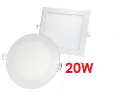 Recessed LED Panels 20W Round and Square
